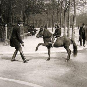 In front of the Dauphine Pavillion (Club de L'etrier), Paris, 1912