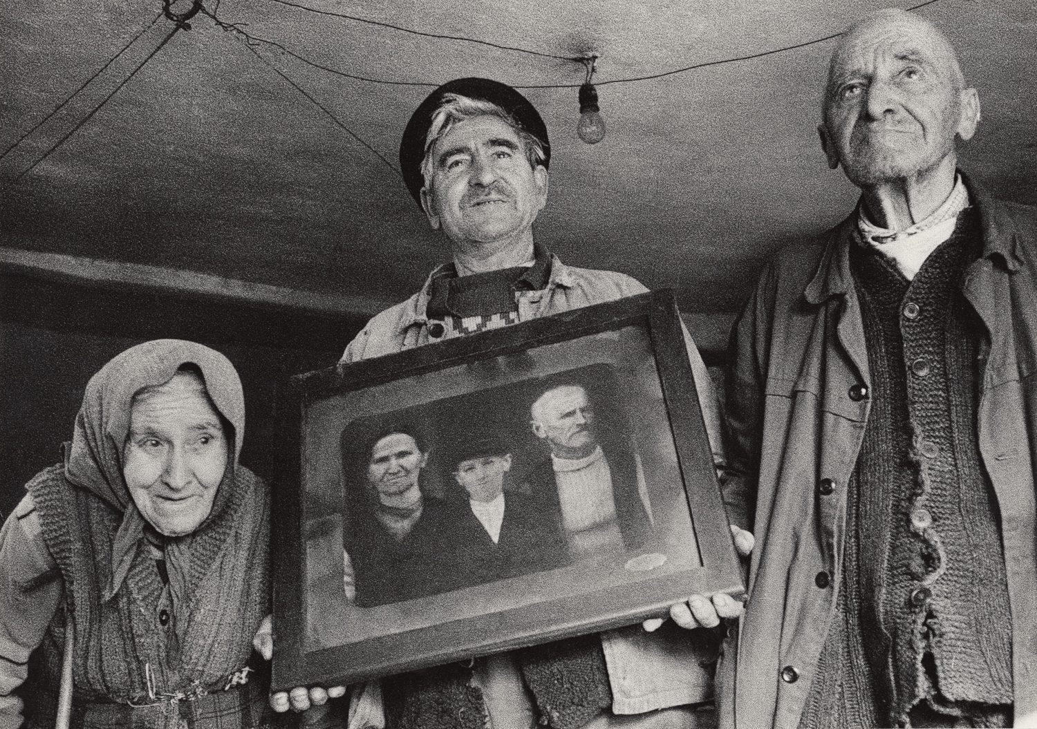 The Family of Todora with their Portrait from 1944, Bulgaria