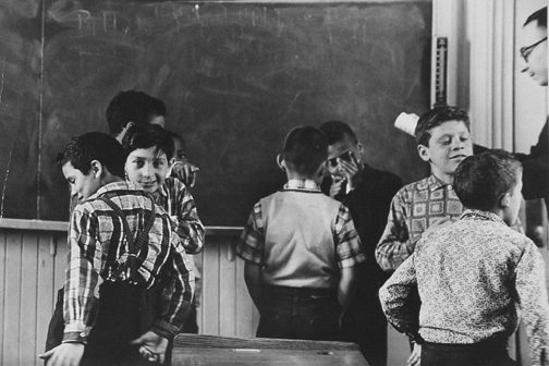 Black and White Children in a N.Y. Classroom, PS105