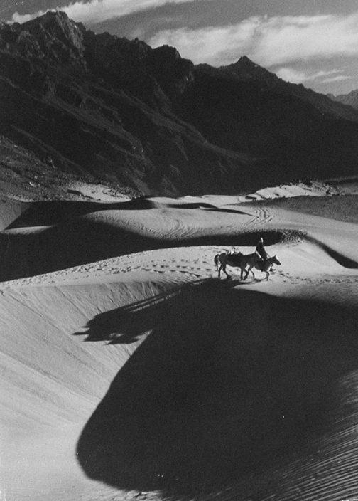 A Man Crossing the Desert on Horseback, Kashmir