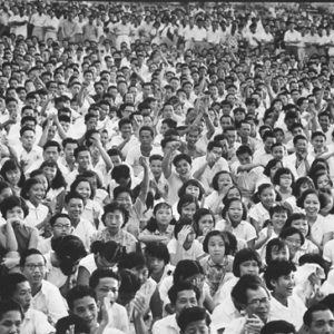 A Political Student Rally, Led by the Communists, Singapore
