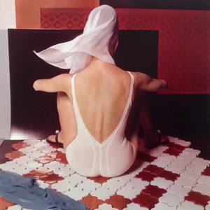 White Lingerie on French Ceramic Tiles