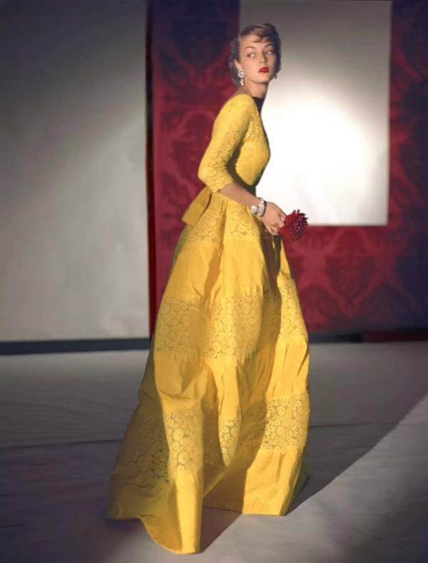 Dress By Henri Bendel, Jewelry By Harry Winston
