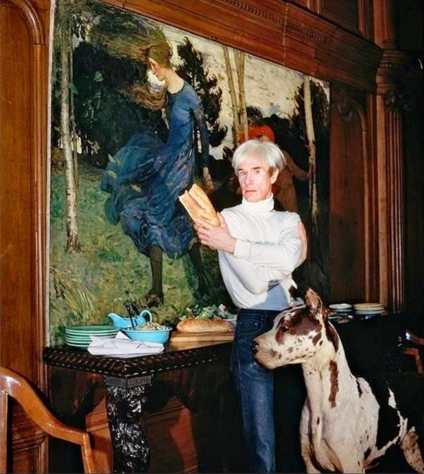 Andy Warhol in his Factory, NYC