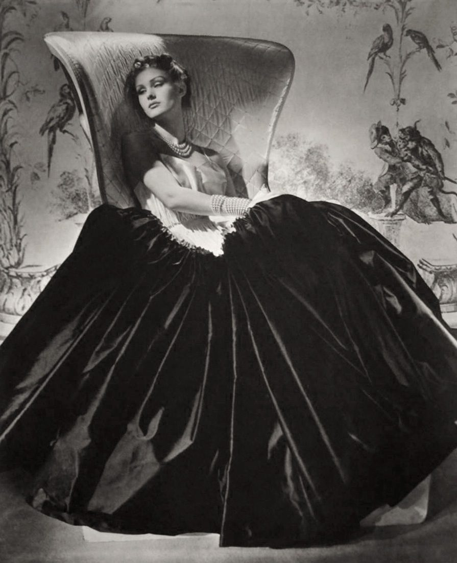 Alix (Black Satin Dress)
