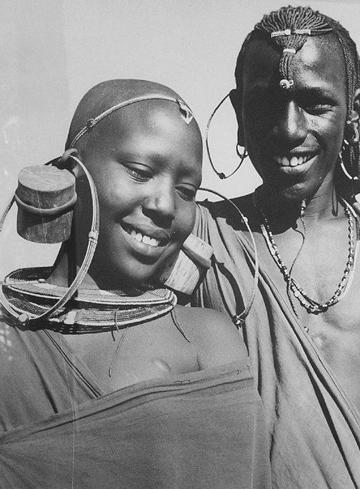 Maasai man and woman Tanzania, Africa