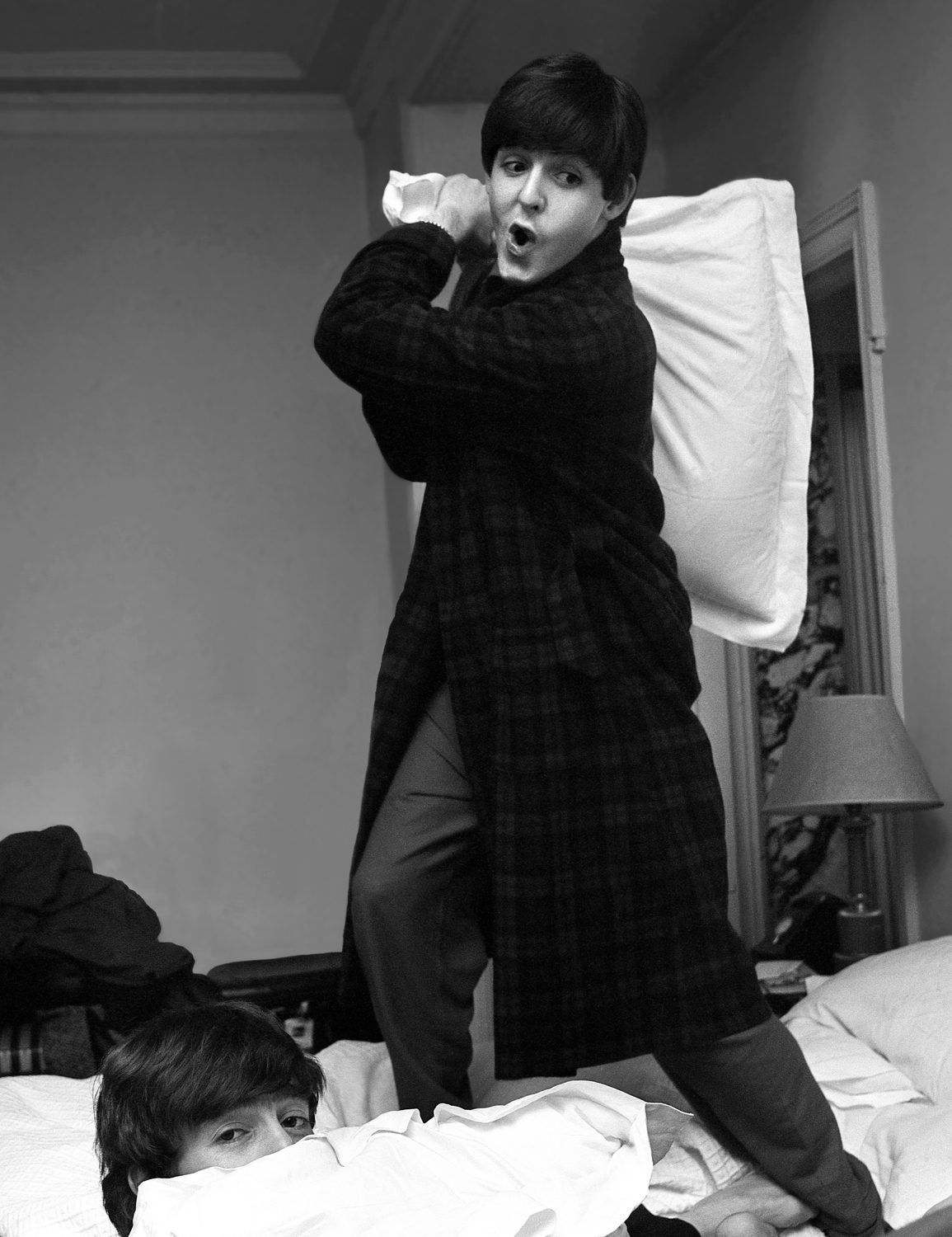 Paul hits John, (Pillow Fight), Paris