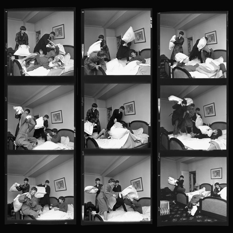 Pillow Fight x 9 - Beatles 40th Anniversary Photograph