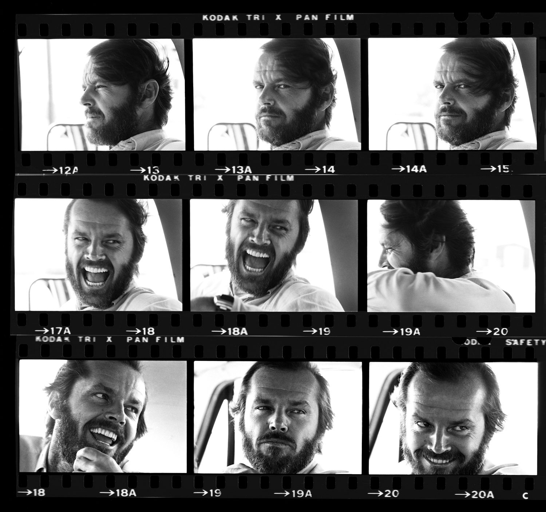 Jack Nicholson Contact Sheet