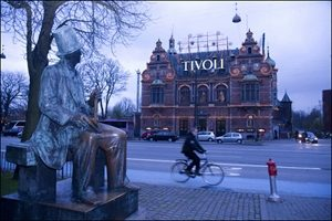 Hans Christian Andersen, Tivoli, Copenhagen