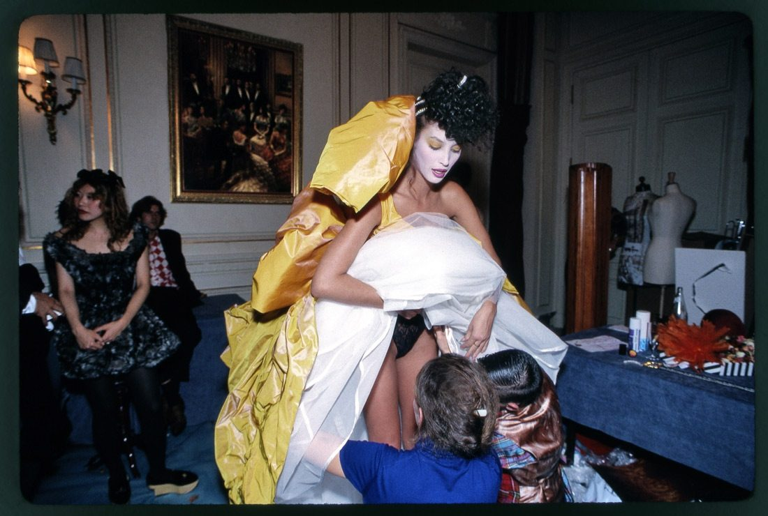 Christy Turlington in Vivienne Westwood Ballgown, Paris