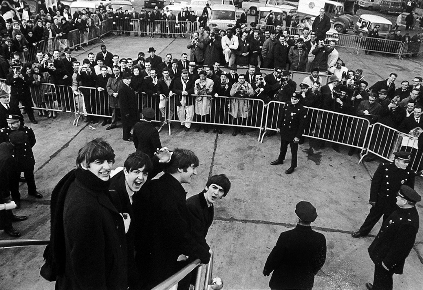 Beatles arriving in New York