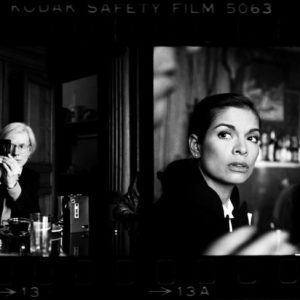 Andy Warhol and Bianca Jagger at The Factory