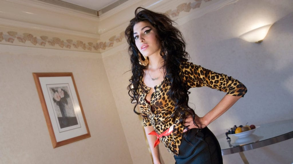 Amy Winehouse standing, London