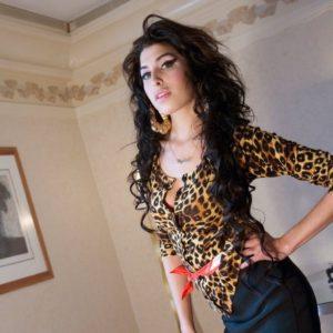Amy Winehouse standing, London