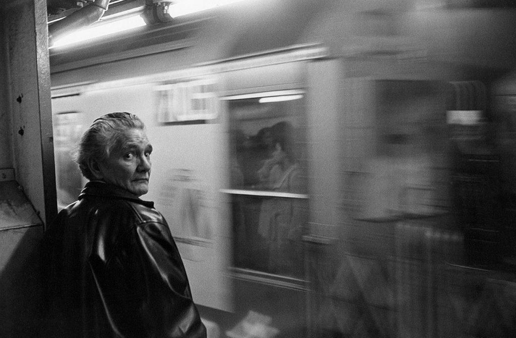 Man on NYC Subway Platform