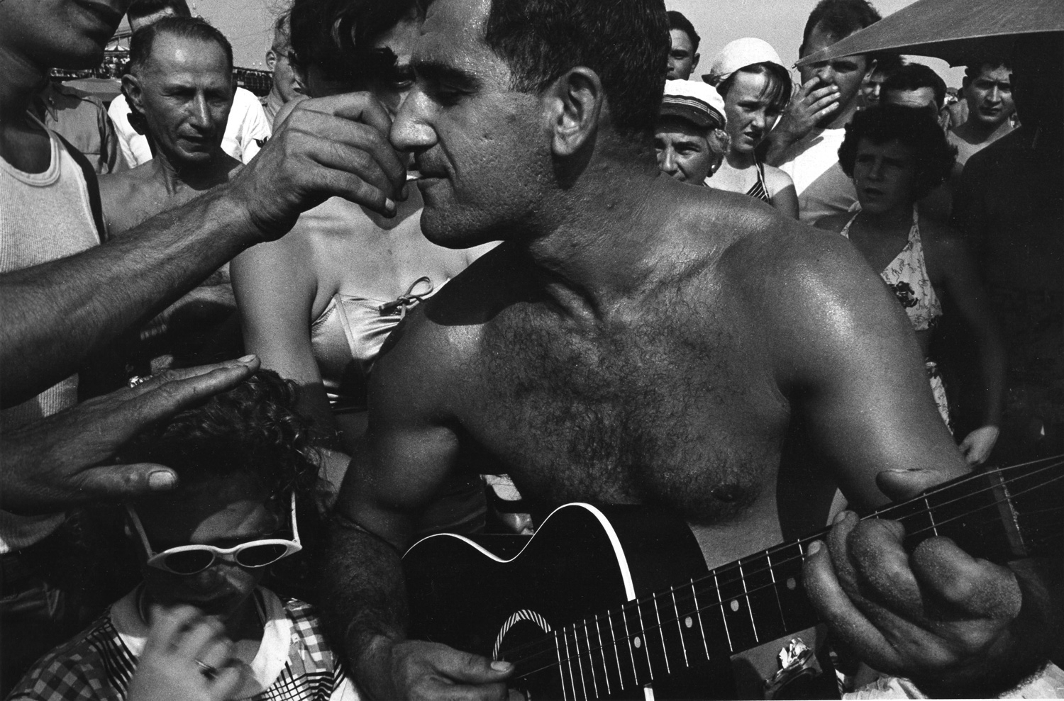 Guitar Player and Cigarette, Coney Island