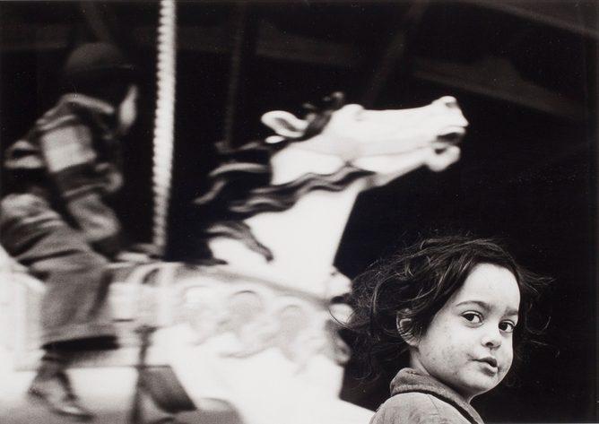 Gypsy Girl at the Carousel - Coney Island
