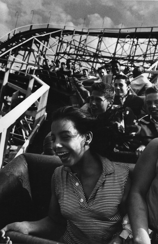 Girl Riding the Cyclone, Coney Island