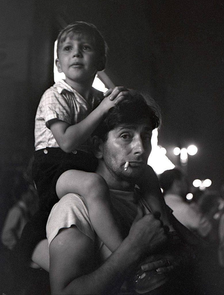 Boy on Dad's Shoulders - Coney Island