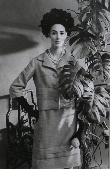 Vogue - Model Margaret with plant
