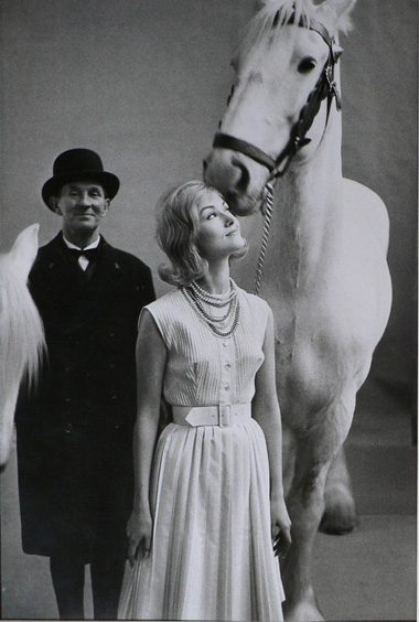 Vogue - Model with man and horse