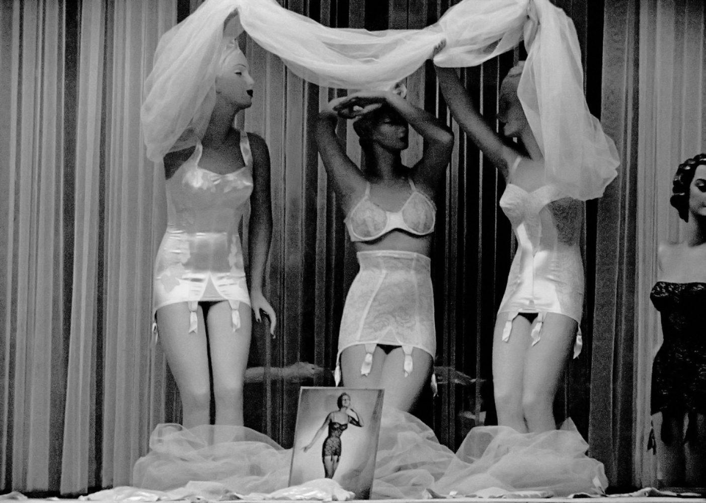 Underwear in shop window, Paris