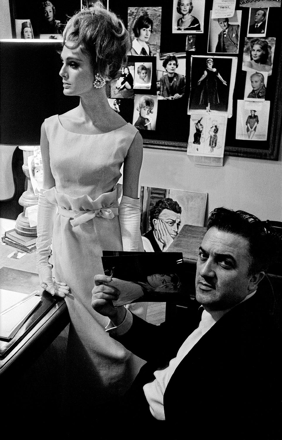 Rome Fashion Harper's Bazaar with Fellini