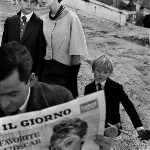 """""""Il Giorno"""" Italian High Fashion for Harper's Bazaar, with Deborah Dixon, Piazza di Spagna"""