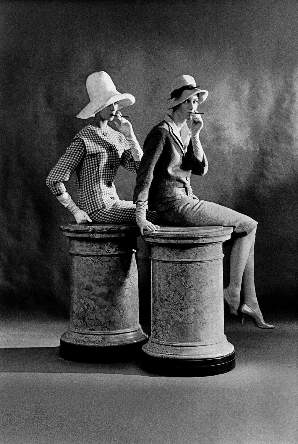 British Vogue A, 2 models Judy Dent and Margaret