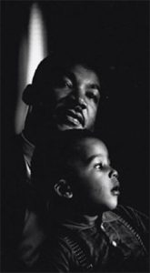 Martin Luther King, Jr. with son Dexter