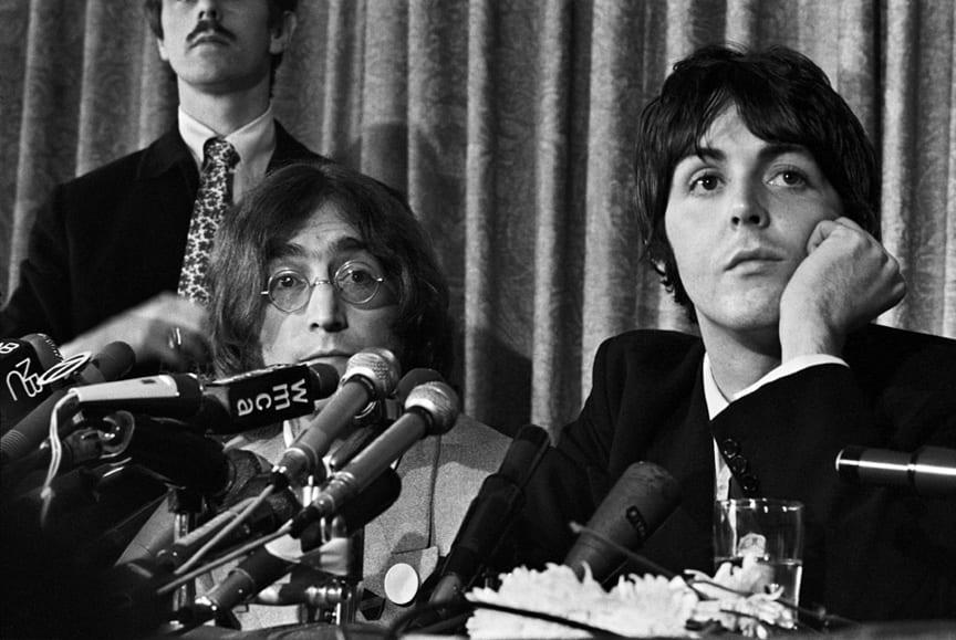 Paul McCartney, John Lennon, NYC - Press conference