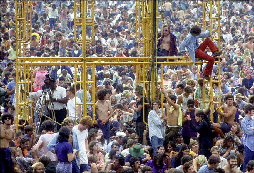 Climbing the Sound Tower, Woodstock, NY