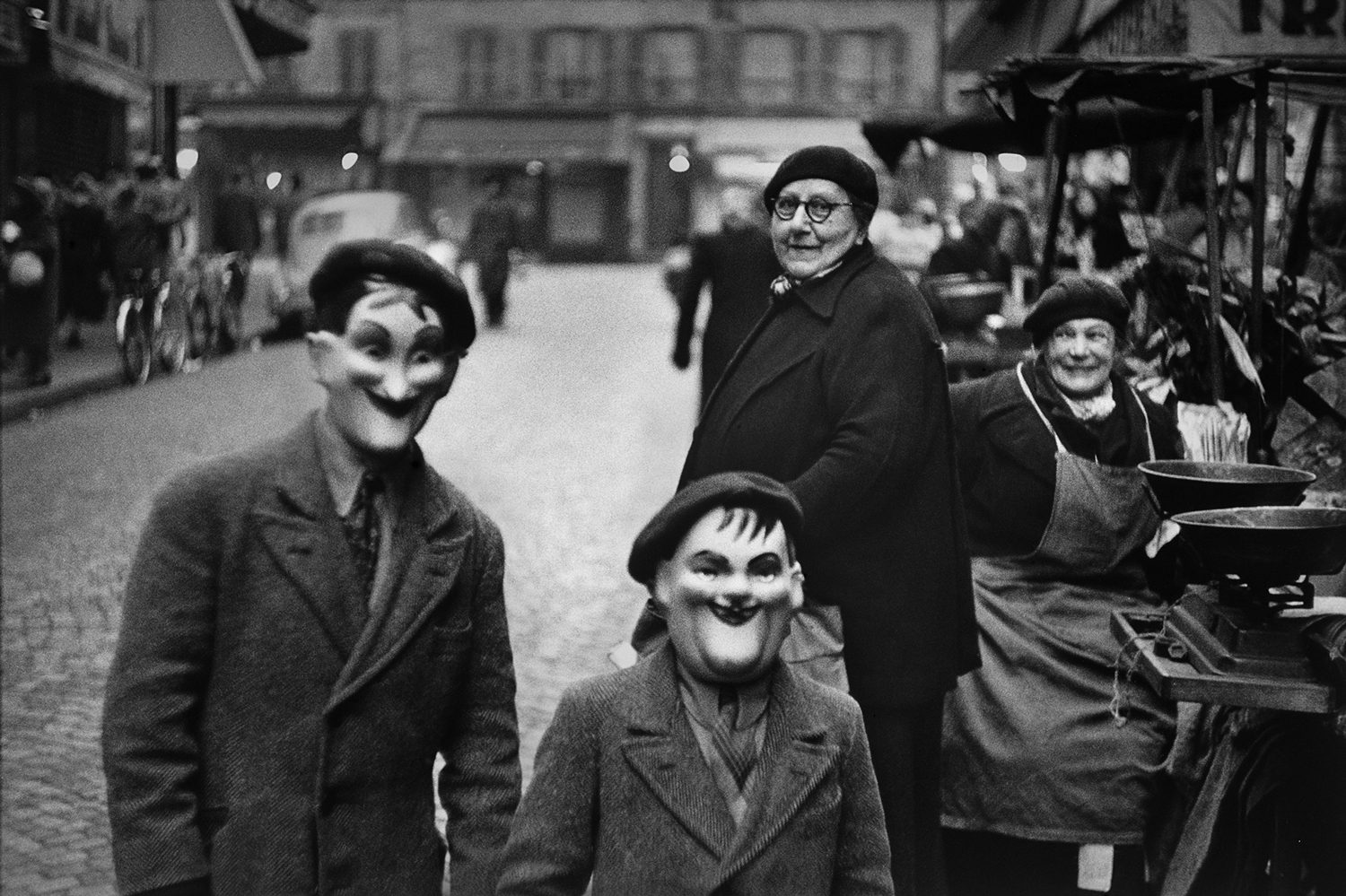 Paris, France (children with masks)