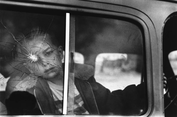 Cracked Glass with Boy, Colorado