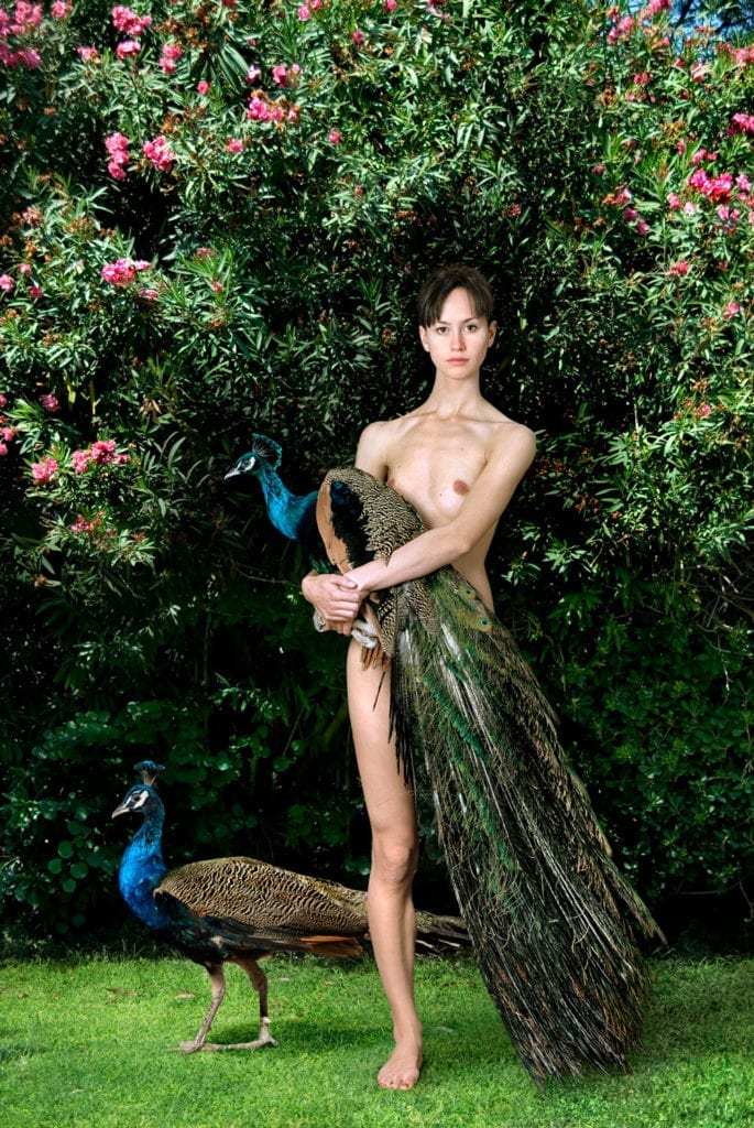 Untitled, For a Definition of The Nude Series (Woman w/ Peacocks)