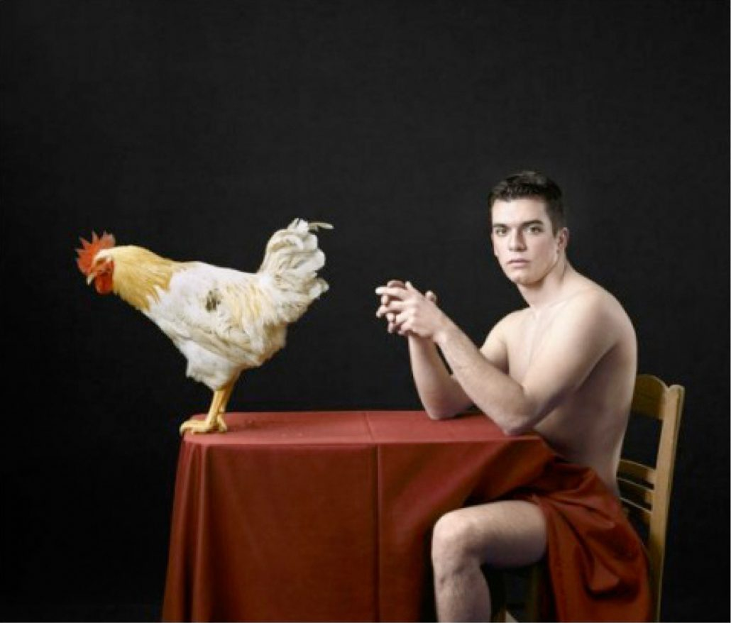 Untitled, For a Definition of The Nude Series (Man w/ Rooster)