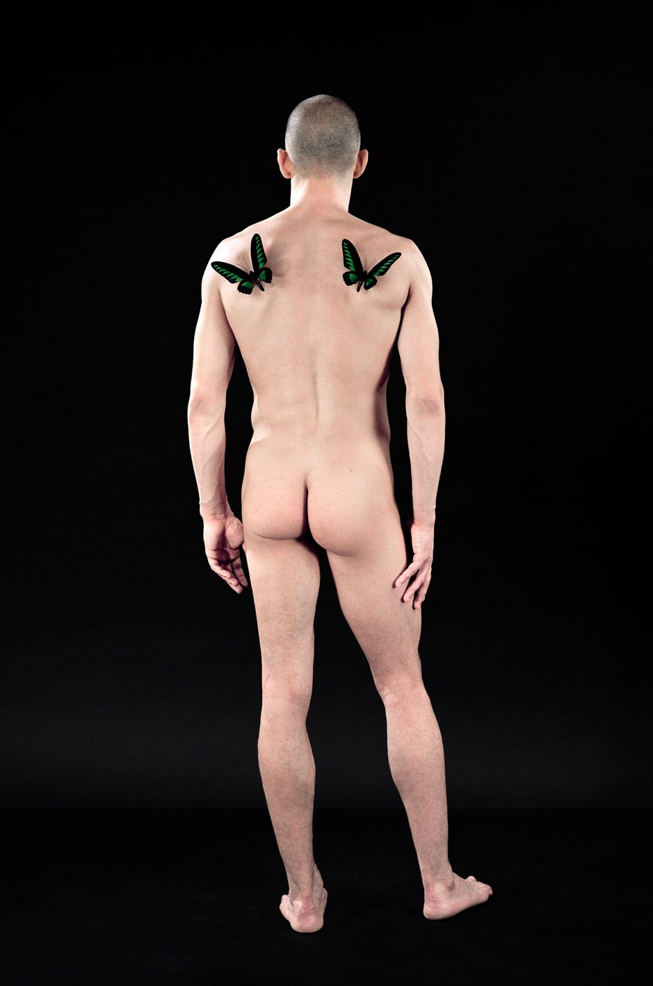 Untitled, For a Definition of The Nude Series (Man w/ Butterflies)