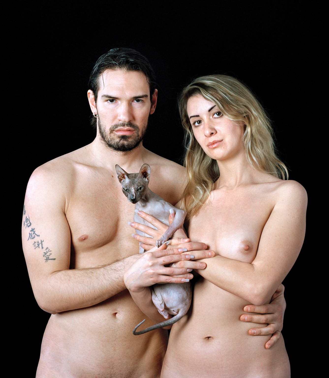 Untitled, For a Definition of The Nude Series (Couple w/ Cat)