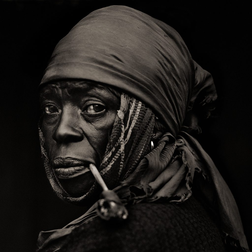 Woman with Pipe, Haiti