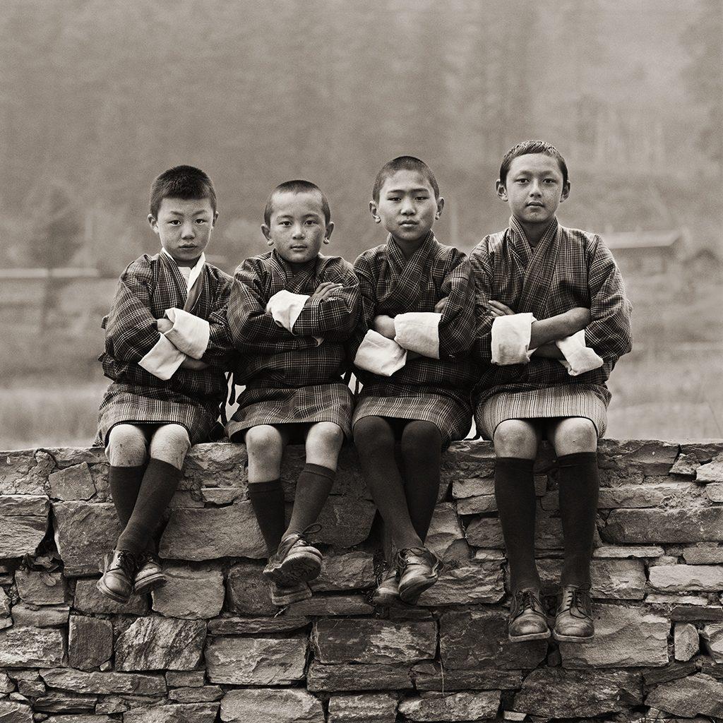 Schoolboys, Bhutan