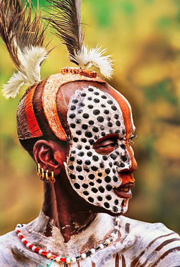 Karo Man Painted For Courtship, Ethiopia