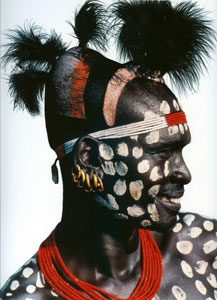 Karo Man with Chalk Spots, Ethiopia # 84-85