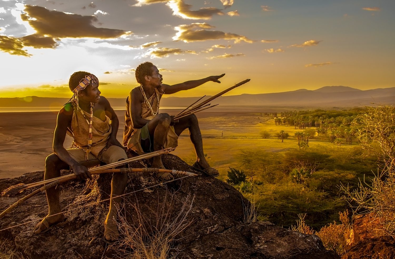 Hadza Hunters Overlooking their Territory, Tanzania