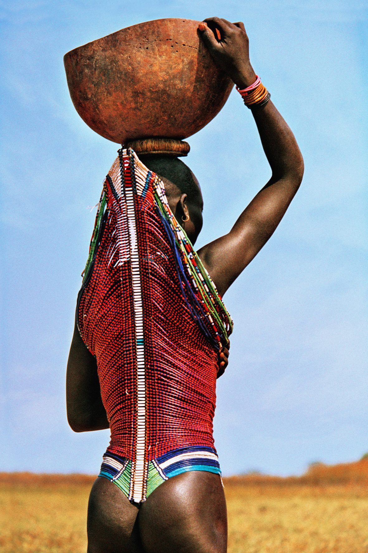 Dinka Woman Carrying Calabash, South Sudan