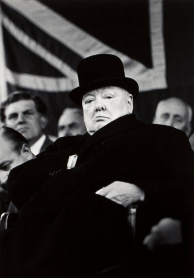Prime Minister Winston Churchill at Bigglewade, England