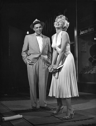 Marilyn Monroe with co-star Tom Ewell, Seven Year Itch