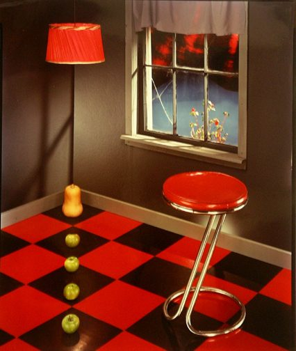 Room with Red Stool
