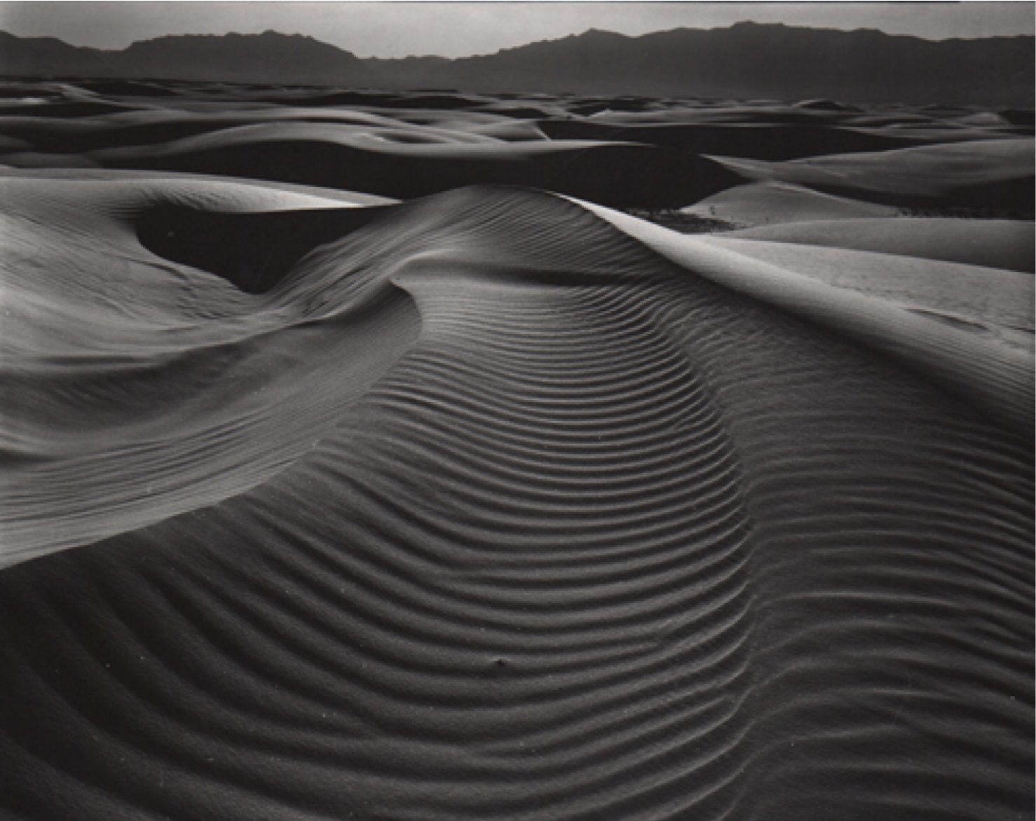 Dunes and Mountains, White Sands