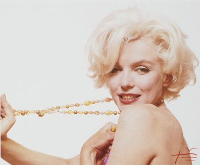 Marilyn Monroe with jewels, from The Last Sitting for Vogue, 1962